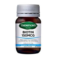 汤普森Biotin高浓度生物素维生素H脱发白发100片 日期:08/2023